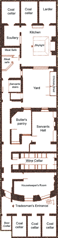 Servants 39 quarters the regency town house Servant quarters floor plans