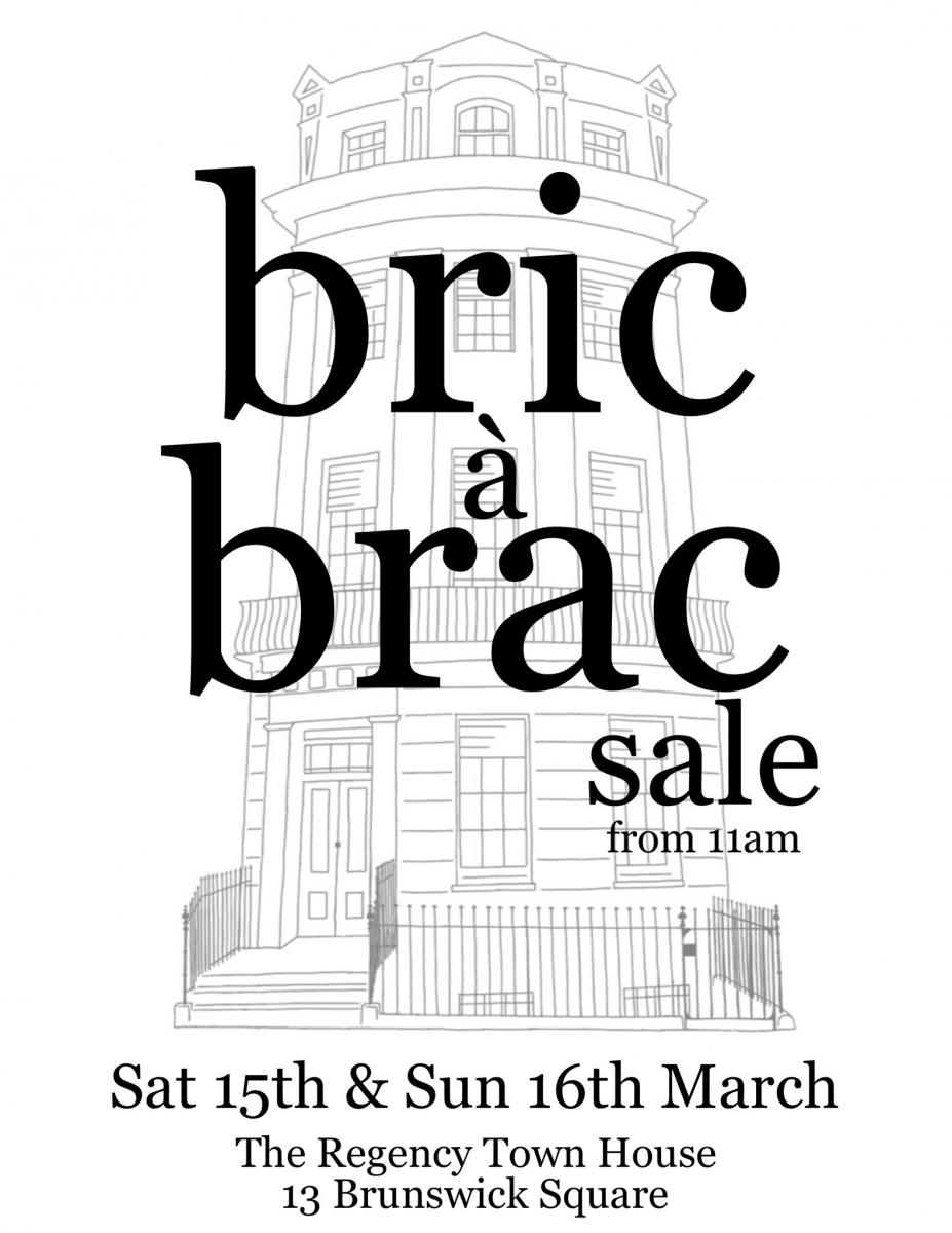 Bric a Brac sale 15th and 16th March 2014 from 11am