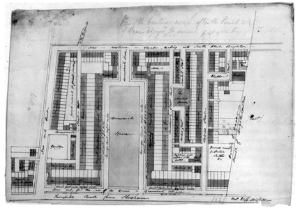 Plan drawing of Brunswick Town