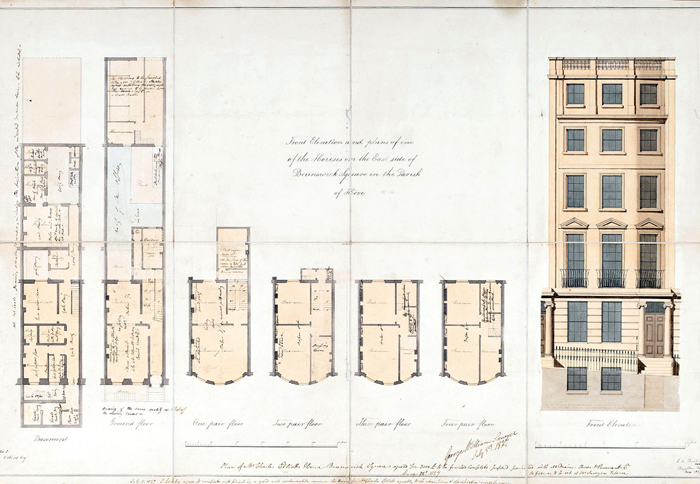 Architectural drawing by Charles Augustin Busby