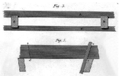Floor joist design from a Regency technical manual.