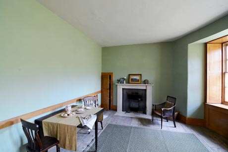 Housekeeper's Room showing back wall and fireplace