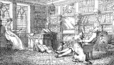 Drawing of a parlour