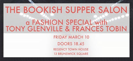 Banner poster for the Bookish Supper