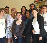 Photo of a group of volunteers taken in the office at the Town House
