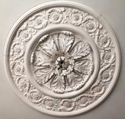 Photograph of decorative plaster ceiling centre