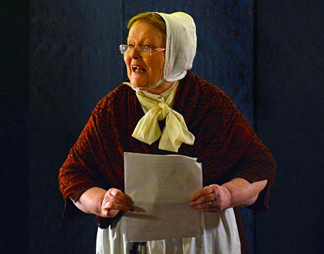 Bridget in her role as Mrs Ainsley the Housekeeper