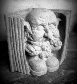 Stone carving by volunteer, Lyndsay Cooper