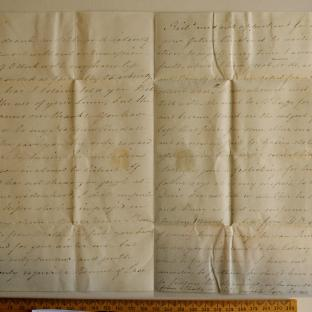 Bevan letter - 26 Aug 1825 -third unfold back