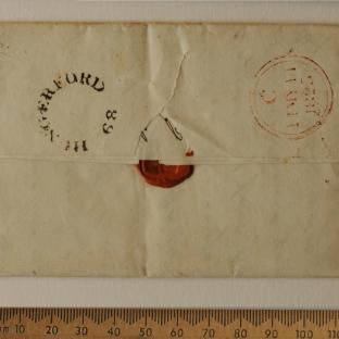 Bevan letter - 9 May 1825 - back