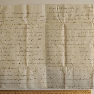 Bevan letter - 1820s - third unfold back