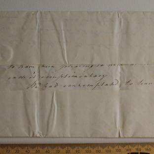Bevan letter - 8 Jul 1824 - first unfold back
