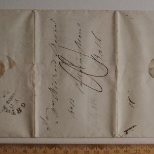 Bevan letter - 8 Jul 1824 - first unfold front