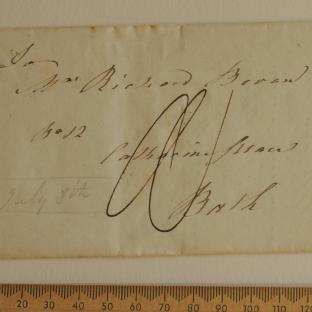 Bevan letter - 8 Jul 1824 - front