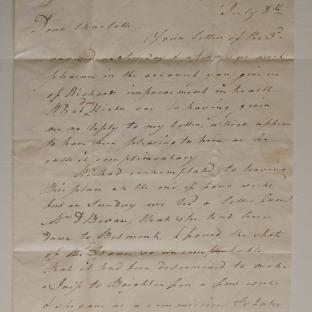 Bevan letter - 8 Jul 1824 - second unfold back