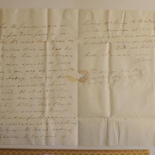 Bevan letter - 8 Jul 1824 - third unfold back