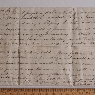 Bevan letter - 21 Aug 1824 - first unfold back