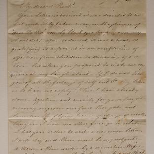 Bevan letter - 21 Aug 1824 - second unfold back