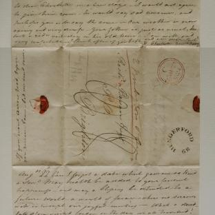 Bevan letter - 21 Aug 1824 - second unfold front