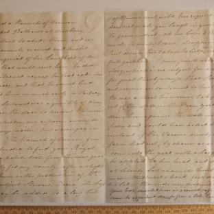 Bevan letter - 21 Aug 1824 - third unfold back