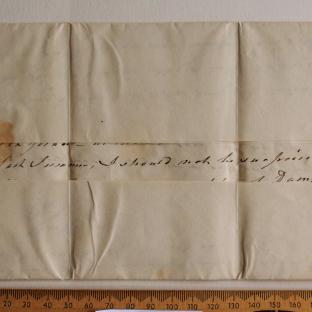 Bevan letter - 27 Aug 1824 - first unfold back