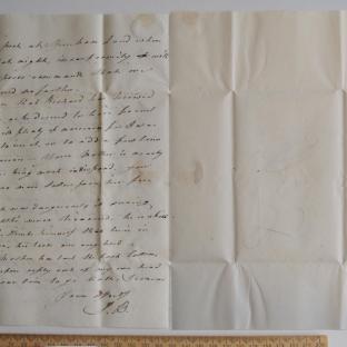 Bevan letter - 27 Aug 1824 - third unfold back