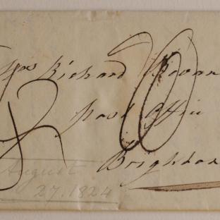 Bevan letter - 27 August 1824 - front