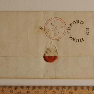 Bevan letter - 3 September 1824 - back