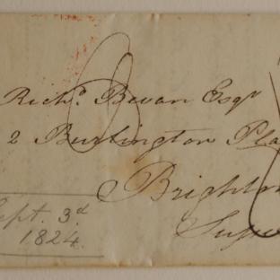 Bevan letter - 3 September 1824 - front