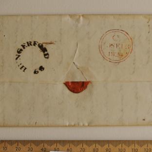 Bevan letter - 11 Sep 1824 - back