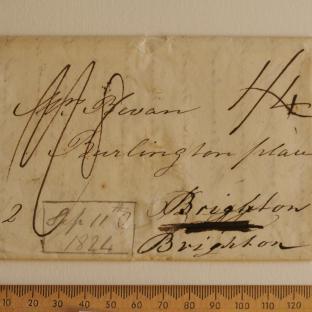 Bevan letter - 11 Sep 1824 - front