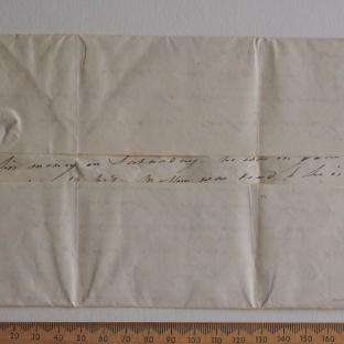 Bevan letter - 8 Feb 1825 - first unfold back