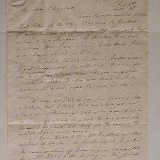 Bevan letter - 8 Feb 1825 - second unfold back