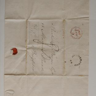 Bevan letter - 8 Feb 1825 - second unfold front