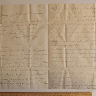 Bevan letter - 8 Feb 1825 - third unfold back