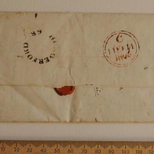 Bevan letter - 8 Feb 1825 - back