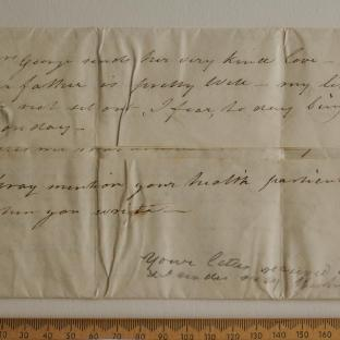 Bevan letter - 9 May 1825 - first unfold back