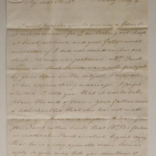 Bevan letter - 9 May 1825 - second unfold back