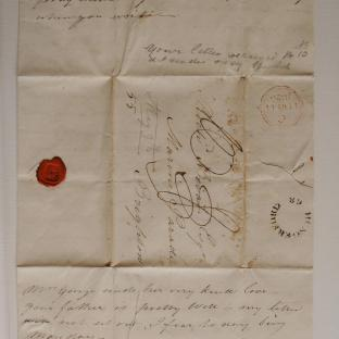 Bevan letter - 9 May 1825 - second unfold front