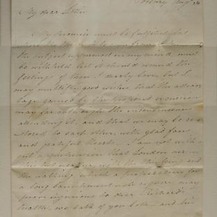 Bevan letter - 26 Aug 1825 -second unfold back