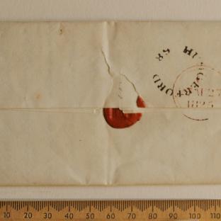 Bevan letter - 26 Aug 1825 - back