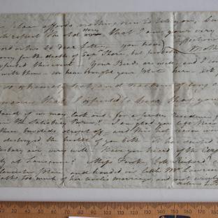 Bevan letter - 8 Jul 1826 - first unfold back