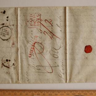 Bevan letter - 8 Jul 1826 - first unfold front