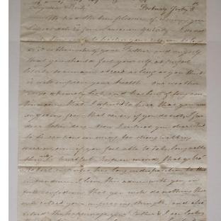 Bevan letter - 8 Jul 1826 - second unfold back