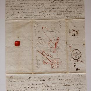 Bevan letter - 8 Jul 1826 - second unfold front