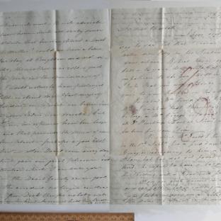 Bevan letter - 8 Jul 1826 - third unfold back