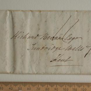 Bevan letter - 20 Aug 1829 - front