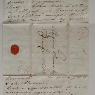 Bevan letter - 3 Aug 1829 - second unfold front