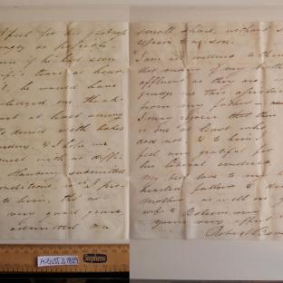 Bevan letter - 3 Aug 1829 - third unfold back