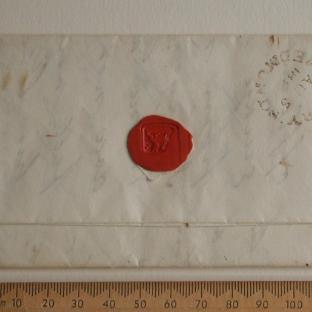 Bevan letter - 3 Aug 1829 - back